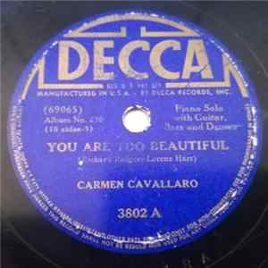 Carmen Cavallaro - You Are Too Beautiful / The Most Beautiful Girl In The World Album Download